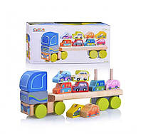 Деревянная игрушка Трейлер13418