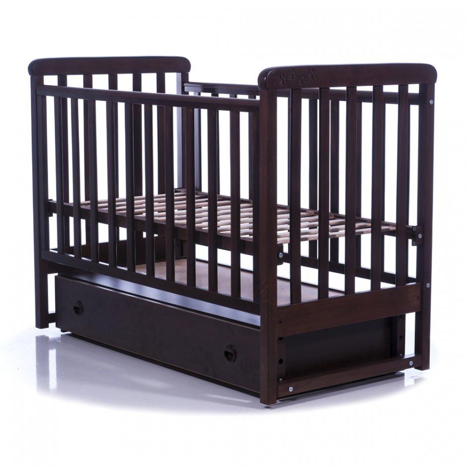 Кроватка Соня ЛД12 Верес орех(маят.+ящ лапки)