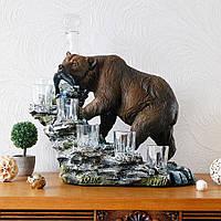 Штоф медведь – оригинальный подарок мужчине ручной работы