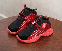 Кросівки дитячі демісезонні F-8 чорні з червоними вставками 5d90282aee751