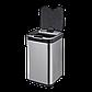 Сенсорное мусорное ведро JAH 25 л квадратное металлик без внутреннего ведра, фото 5