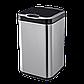 Сенсорное мусорное ведро JAH 25 л квадратное металлик без внутреннего ведра, фото 6