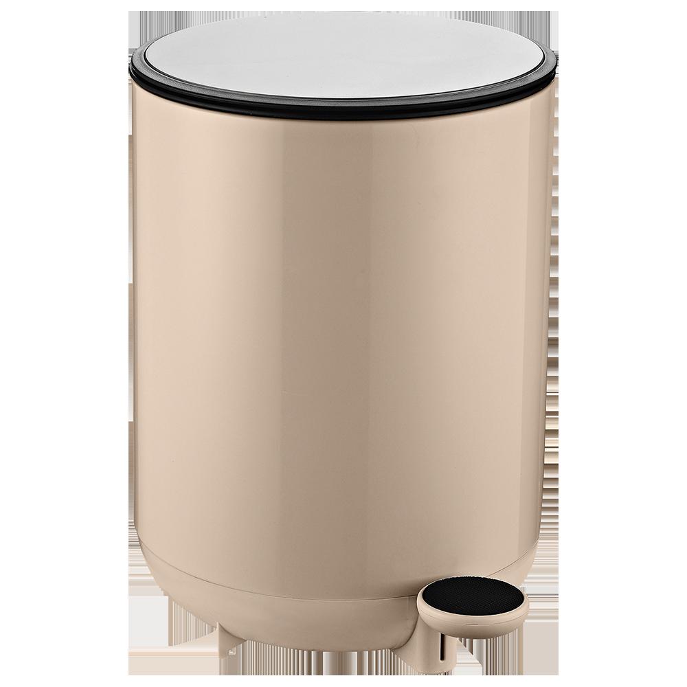 Відро для сміття з педаллю JAH 8 л бежеве з внутрішнім відром