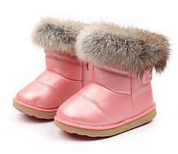 Чобітки дитячі зимові з опушкою рожеві 7c18c3ea0c5f0