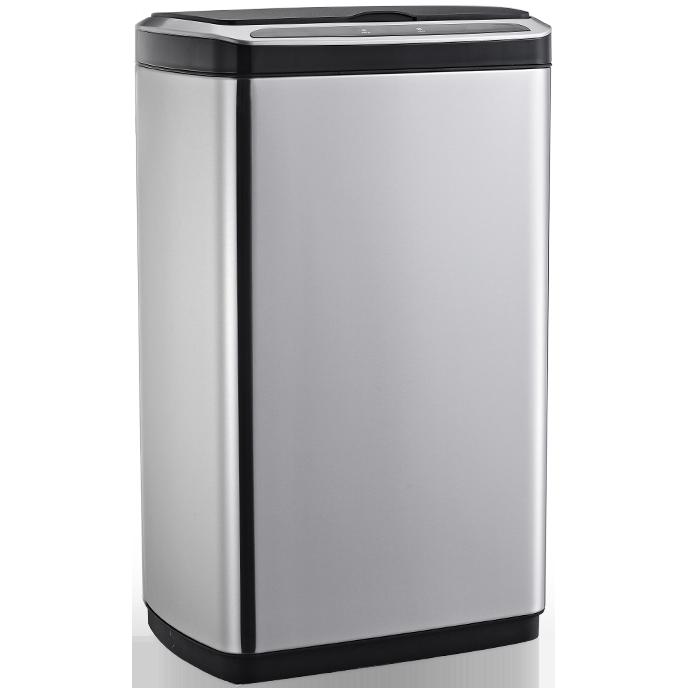 Сенсорное мусорное ведро JAH 50 л прямоугольное металлик без внутреннего ведра