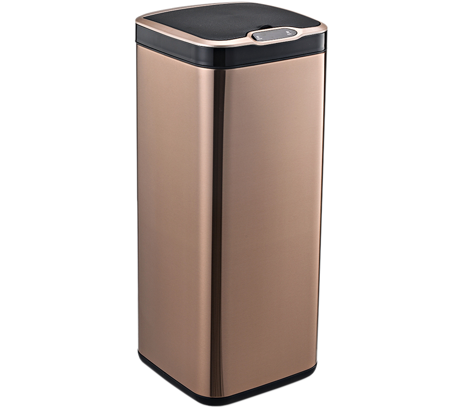 Сенсорне відро для сміття JAH 30 л квадратне рожеве золото без внутрішнього відра