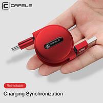 Кабель быстрой зарядки Cafele 2A Type C Red (SB3-25-04), фото 2