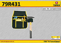 Сумка для инструмента 4 кармана + петля для молотка,  TOPEX  79R431, фото 1