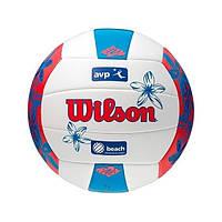 Мяч волейбольный Wilson AVP Floral VoleyBall Blue р. 5 (WTH4825XBRDBL05)