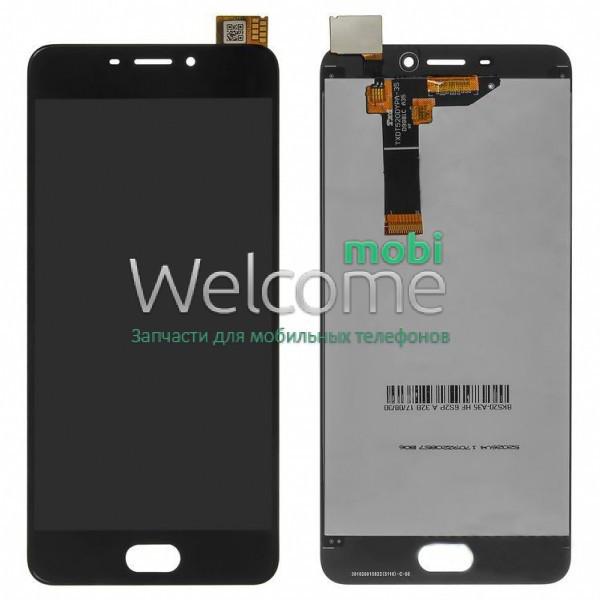 Модуль Meizu M6 black дисплей экран, сенсор тач скрин Мейзу М6