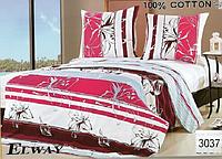 Сатиновое постельное белье полуторка ELWAY 3037