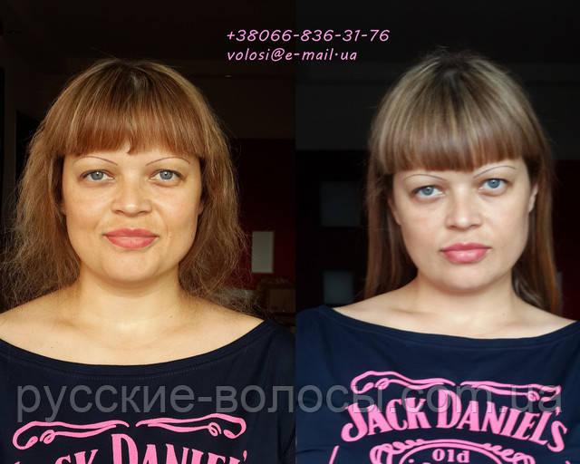 Безопасное наращивание волос. Фото до и после.