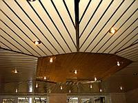Алюминиевый реечный потолок Алматы, фото 1