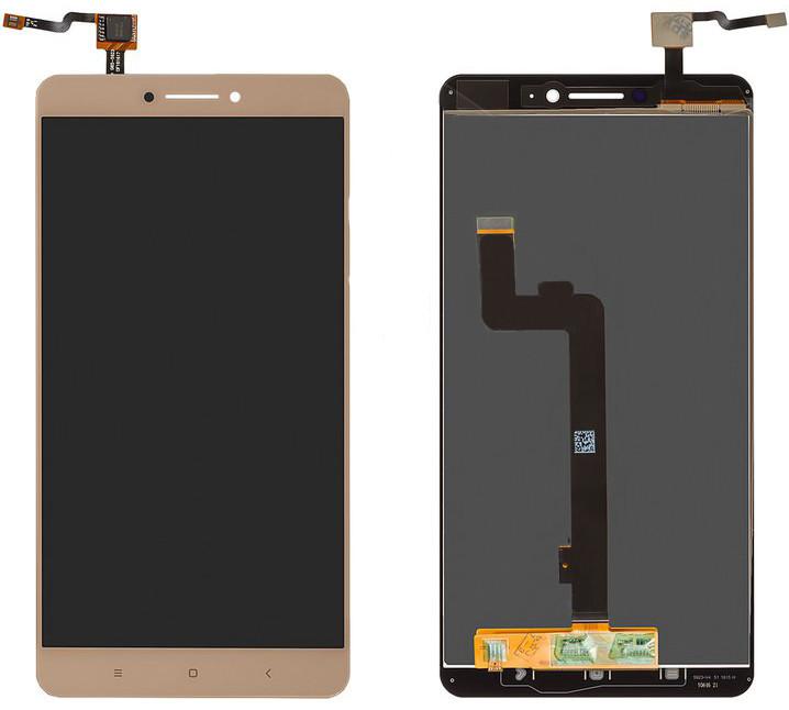 Модуль Xiaomi Mi Max gold (оригинал) дисплей экран, сенсор тач скрин для телефона смартфона