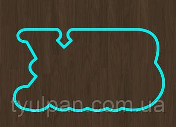 Вырубка -оттиск набор букв ХВ  размер 3 см
