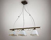 Люстра для небольшой комнаты, 3-х ламповая, на тросах