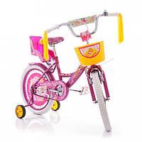 """Детский велосипед Azimut Girls 14"""" дюймов розовый, фото 1"""