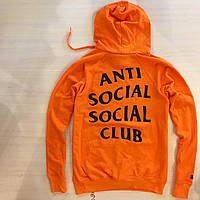 Толстовка Anti Social Social Club Худи оранжевая с биркой (РЕПЛИКА)