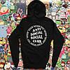 Чорна толстовка Anti Social Social Club Худі з биркою (РЕПЛІКА)