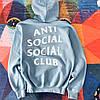 Блакитна толстовка Anti Social Social Club Худі з биркою (РЕПЛІКА)