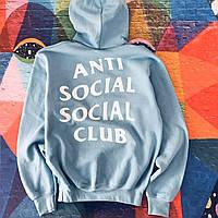 Блакитна толстовка Anti Social Social Club Худі з биркою (РЕПЛІКА), фото 1