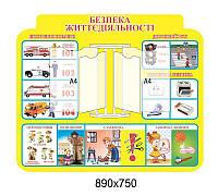 Стенд Безопасность жизнедеятельности со стенд-книжкой