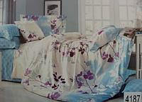 Сатиновое постельное белье полуторка ELWAY 4187