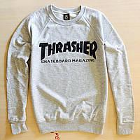 Сірий світшот Thrasher Трешер з оригінальною маркою кофта меланж (РЕПЛІКА), фото 1