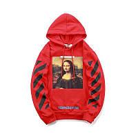 Худі червона OFF-White Mona Lisa Мона ліза толстовка (РЕПЛІКА), фото 1