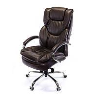 Кресло офисное на колесиках Флорида CH MB коричневого цвета из кожи