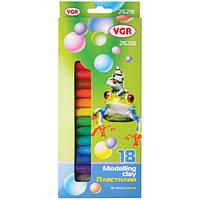 Пластилин VGR 26218-1106 18 цветов, 300гр.