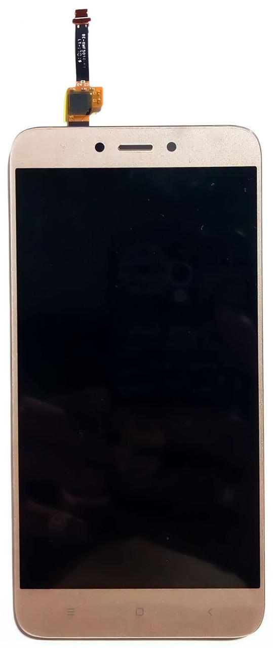 Модуль Xiaomi Redmi 4X gold (оригинал) дисплей экран, сенсор тач скрин Сяоми Ксиоми Редми 4Х