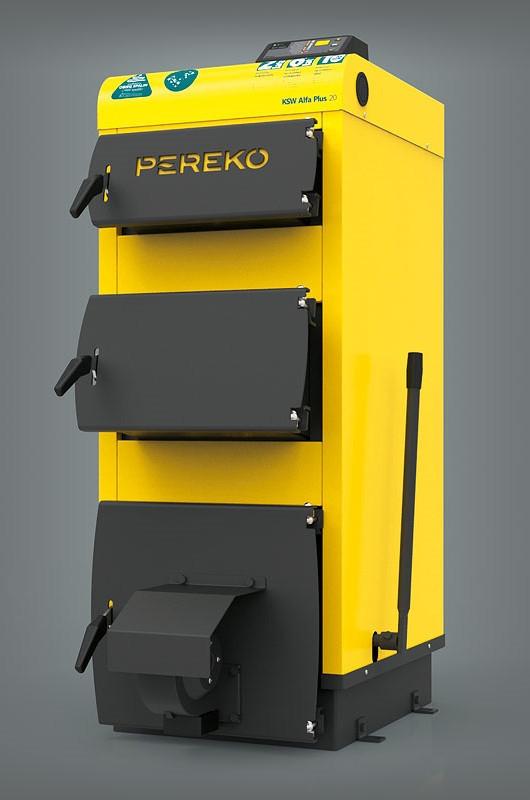 Твердотопливный котел польского производства PEREKO KSW Alfa Plus 30 кВт на электронном управлении