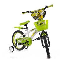 """Детский велосипед Azimut Hunter 14"""" дюймов салатовый"""