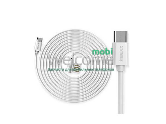 Кабель micro USB Remax Rayen RC-075, 1.0м white, фото 2