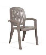 Стул, кресло пластиковое Creta wicker шоколадное Мебель пластиковая, садовая