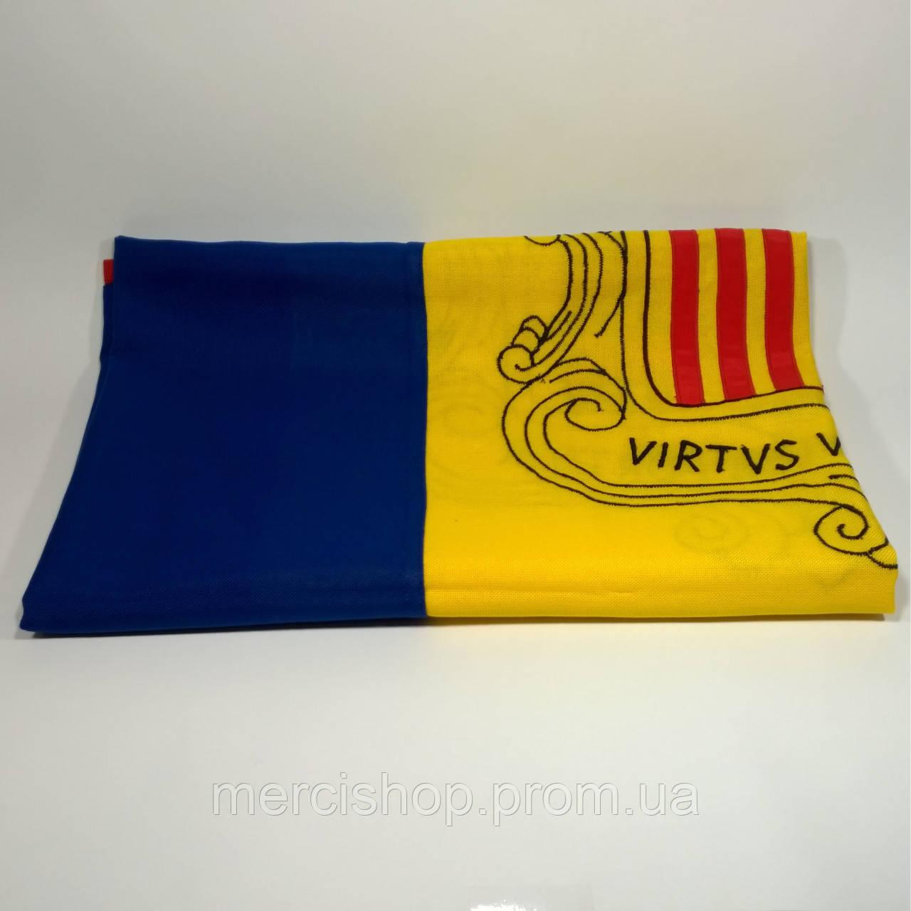 Флаг Андорры (Вышивка) - (1м*1.5м)