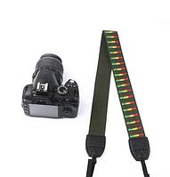 Универсальный зеленый ремень из котона (хлопка) для фотокамеры