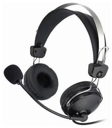 Гарнитура (наушники с микрофоном) A4Tech HS-7P Black, фото 2