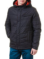 Куртка демисезонная с цветным капюшоном 1564