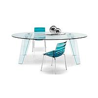 Стол обеденный стеклянный Gemini CS 4051 Glass голубой