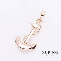 Подвеска Xuping Якорь цвет золото 3,5х1,5см