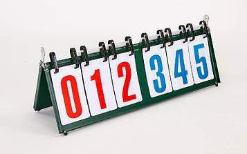 Табло перекидне для ігор (3х3, метал, пластик, р-р 55,5 см х19см)