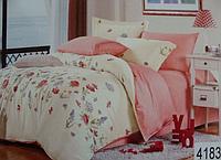 Сатиновое постельное белье полуторка ELWAY 4183
