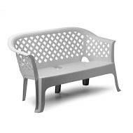 Лавочка Lariana белая  пластиковая. Мебель пластиковая, садовая