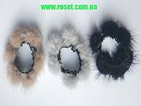 Резинка для волос с натуральным мехом, фото 1