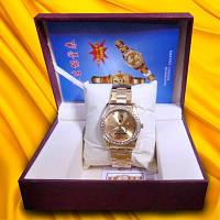 Часы Лечебные магнитые - позолота, с камнями