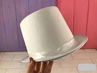 Шляпа цилиндр для карнавалов, вечеринок белый, фото 1