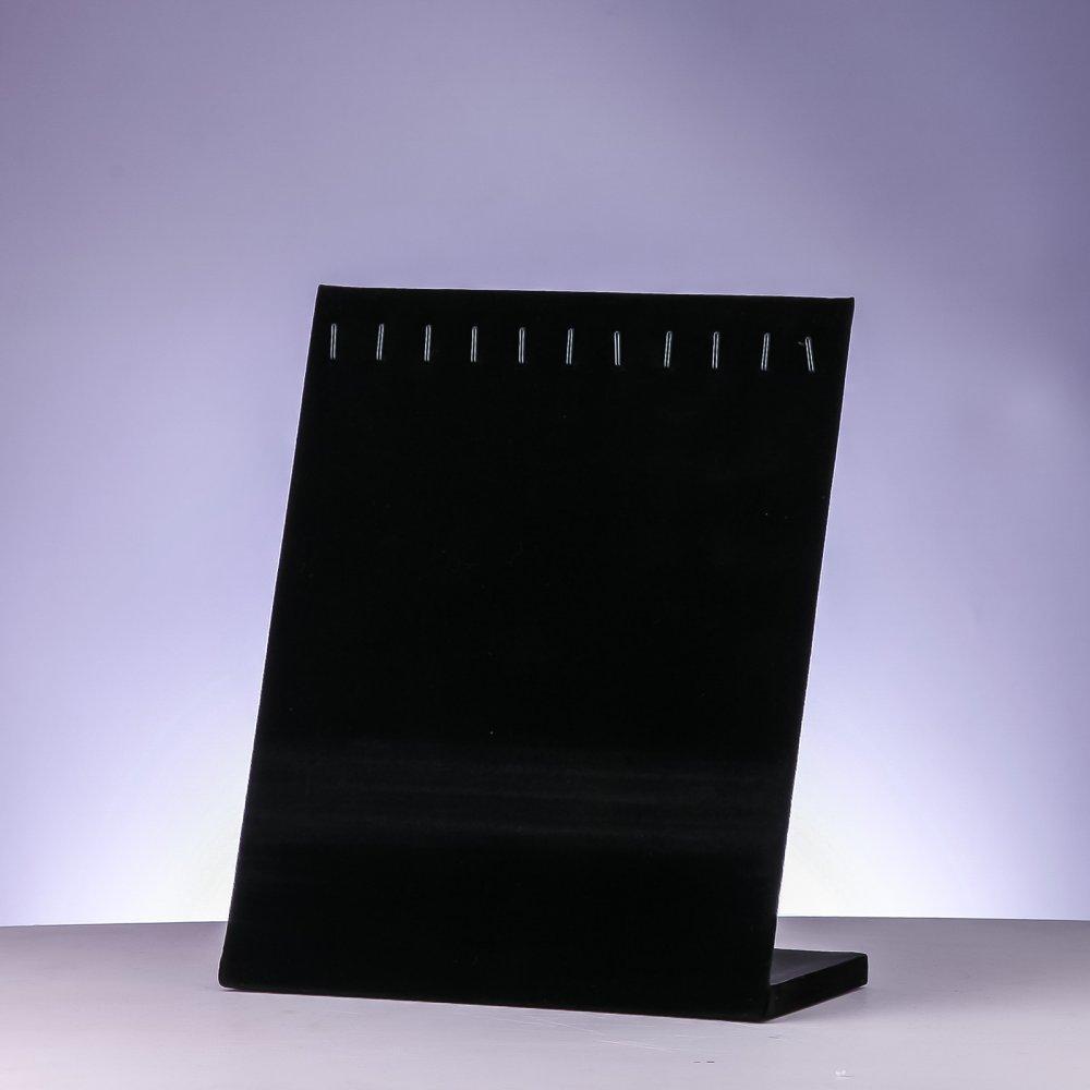 Подставка под цепочки, браслеты черный велюр L-20см H- 25см