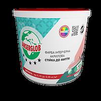 Краска акриловая интерьерная стойкая к мытью Anserglob 4,2 кг
